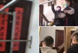 китай блокируют двери