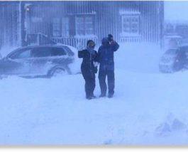 норвегия зимний шторм