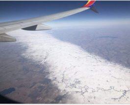 Странная снежная полоса