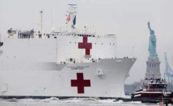 Медицинское судно Comfort прибыло в Нью-Йорк