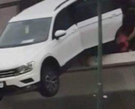 Volkswagen Tiguan,выпал из окна,авария
