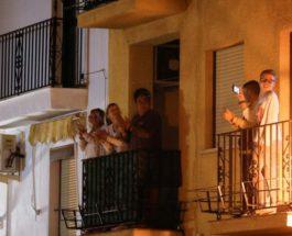 Испания аплодисмены коронавирус