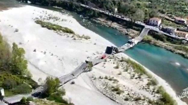 В Италии рухнул еще один мост