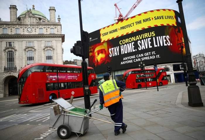 В Лондоне на площади Пикадилли проводится кампания по здравоохранению