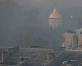 Киев пожары чернобыль дым
