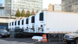 Вот как складывают тела в мобильных моргах в Нью-Йорке (ФОТО)