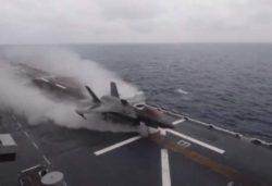 Первое видео невероятного взлета американского истребителя F-35B Lightning II