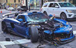 Очень редкий суперкар Porsche Gemballa Mirage GT разбился в Нью-Йорке