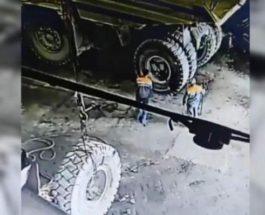 Колесо БелАЗа убило