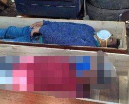 Мэр Перу притворился мертвым в гробу