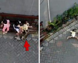 Обезьяна пыталась похитить ребенка