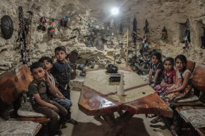 Пещера, вырытая как убежище после военных действий