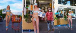Полуголая женщина устроила протест против ограничений в Лос-Анджелесе (ФОТО 18+)