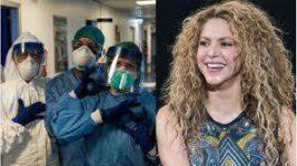 Шакира подарила маски и респираторы