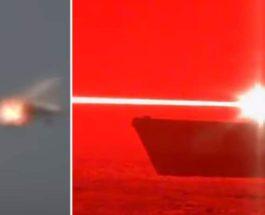 используют лазер, чтобы сбить дрон