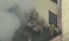 на пожаре в Лос-Анджелесе