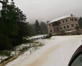 снег в мае греция