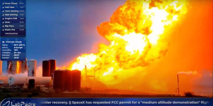 SpaceX explosion