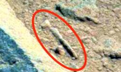 Война на Марсе: на Красной Планете обнаружили древний снаряд