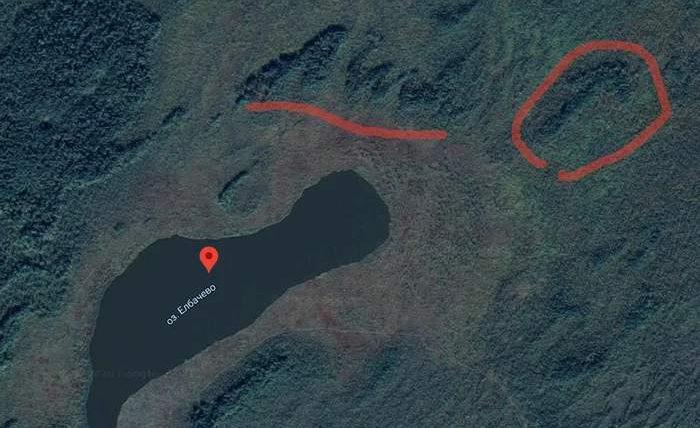 Гигантская стрелка-геоглиф в Сибири