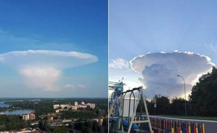 Киев,облако,ядерный гриб