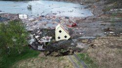 Оползень в Норвегии унес 8 домов в море (ВИДЕО)
