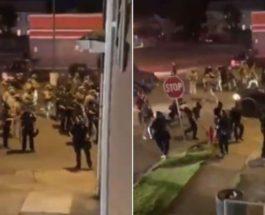 США протесты въехал в толпу