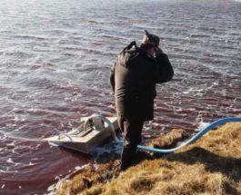 Сибирь,разлив,дизельное топливо,экологическая катастрофа