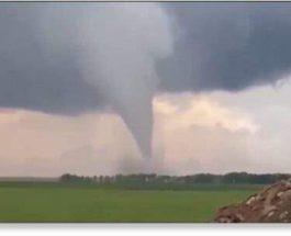 Торнадо пронесся в Лукшяе, Литва