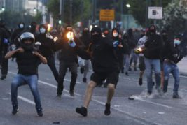 беспорядки Греция