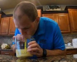 выпил литр лимонного сока