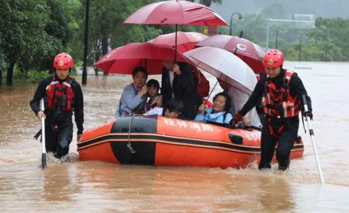 китай наводнение