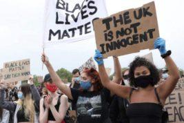 лондон протесты