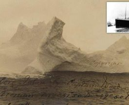 редкая фотография айсберга, потопившего Титаник