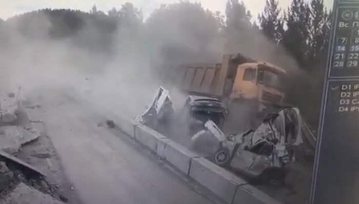 самосвал,Юрзань,авария,Челябинская область