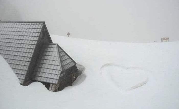 словения снег