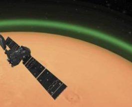 Марс,зеленое свечение