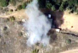Видео с дрона: Азербайджан уничтожил военный объект Армении