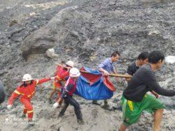 В Бирме (Мьянма) обрушилась нефритовая шахта, погребая и убив более 162 человек в волне грязи