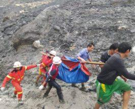 бирма обрушение шахты