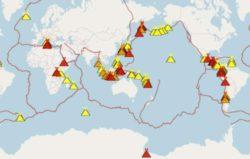 Вулканическая активность накаляется во всем мире: более 39 извергающихся вулканов и сотни землетрясений