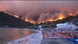 В Греции вспыхнули крупные лесные пожары