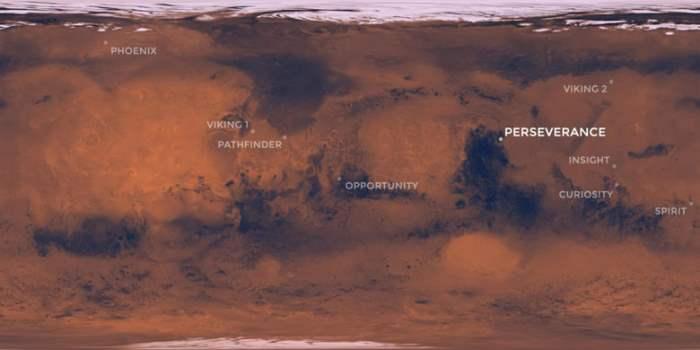 марс настойчивость