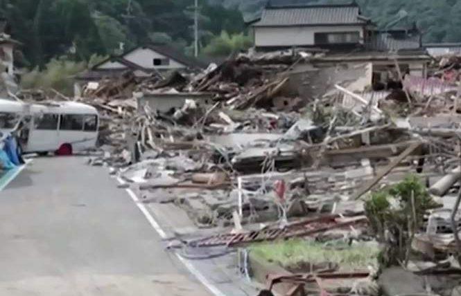 наводнения япония