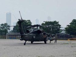 Американский военный вертолет аварийно приземлился в центре Сеула