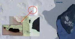 Призрачная тень средневекового замка внезапно появилась на ледяном покрове Антарктиды