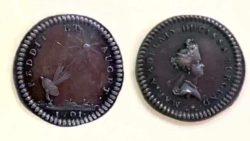 Спутниковая тарелка и НЛО на монете 1701 года. Что это?