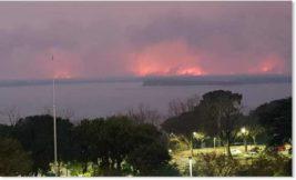 Парана,Аргентина,пожары,