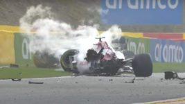 Формула 1,авария,Рассел,Бельгия,Джовинацци,