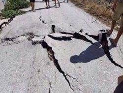 Гигантские трещины появились в Алжире после землетрясения